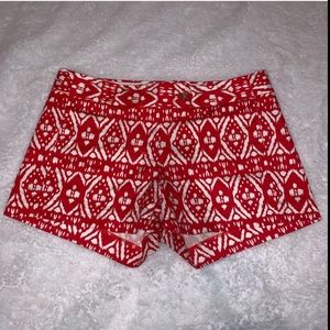 J Crew Red City Fit Stretch Shorts